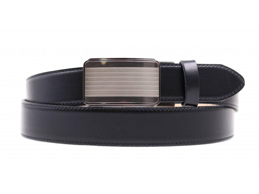 Pánský kožený opasek Penny Belts 3511 černý AUTOMAT s plnou sponou