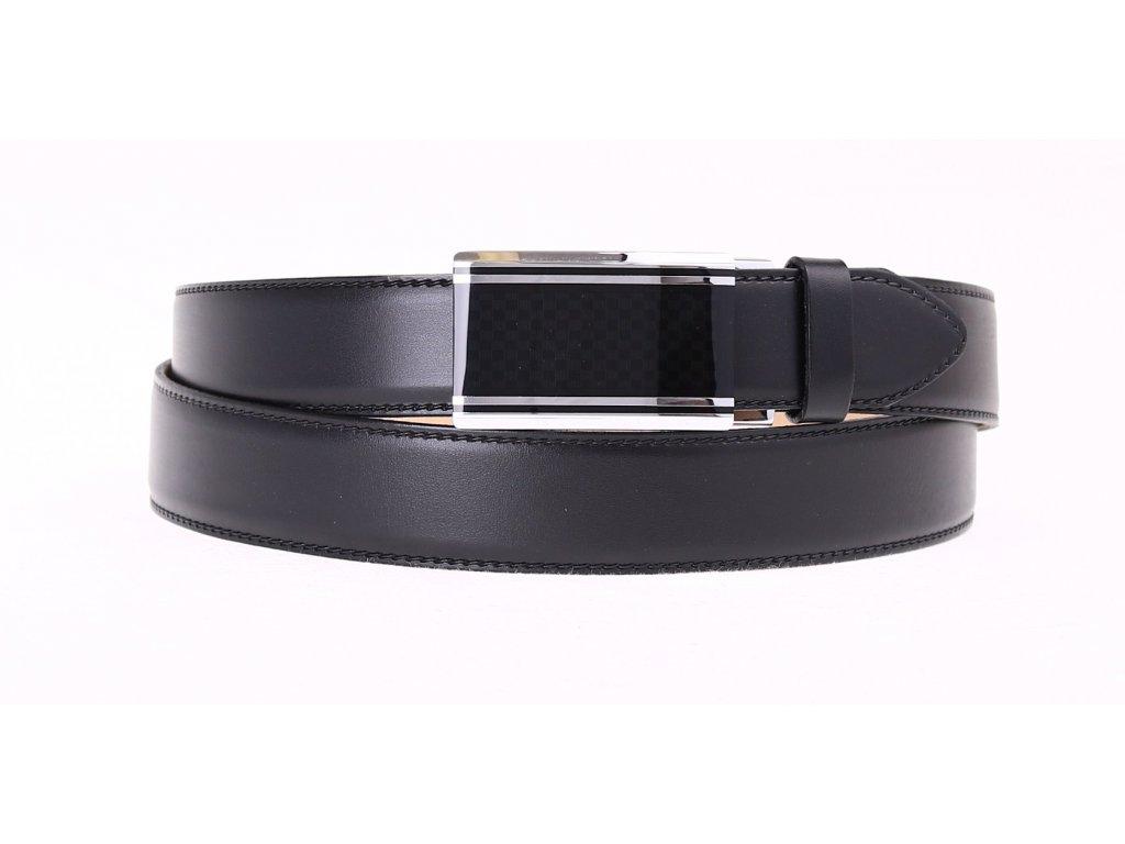Pánský kožený opasek Penny Belts 3509 s plnou sponou AUTOMAT černý