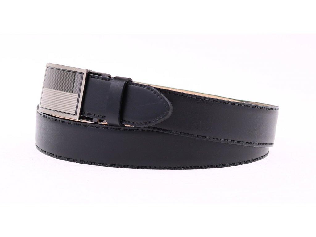 b6b641ee4 ... Pánský kožený opasek Penny Belts 3505 s plnou sponou AUTOMAT černý  (Délka opasku = obvod ...