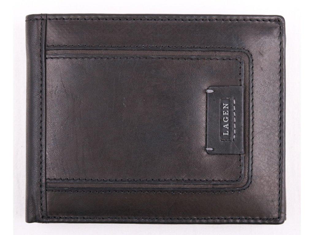 Pánská kožená peněženka Lagen LG1131 černá