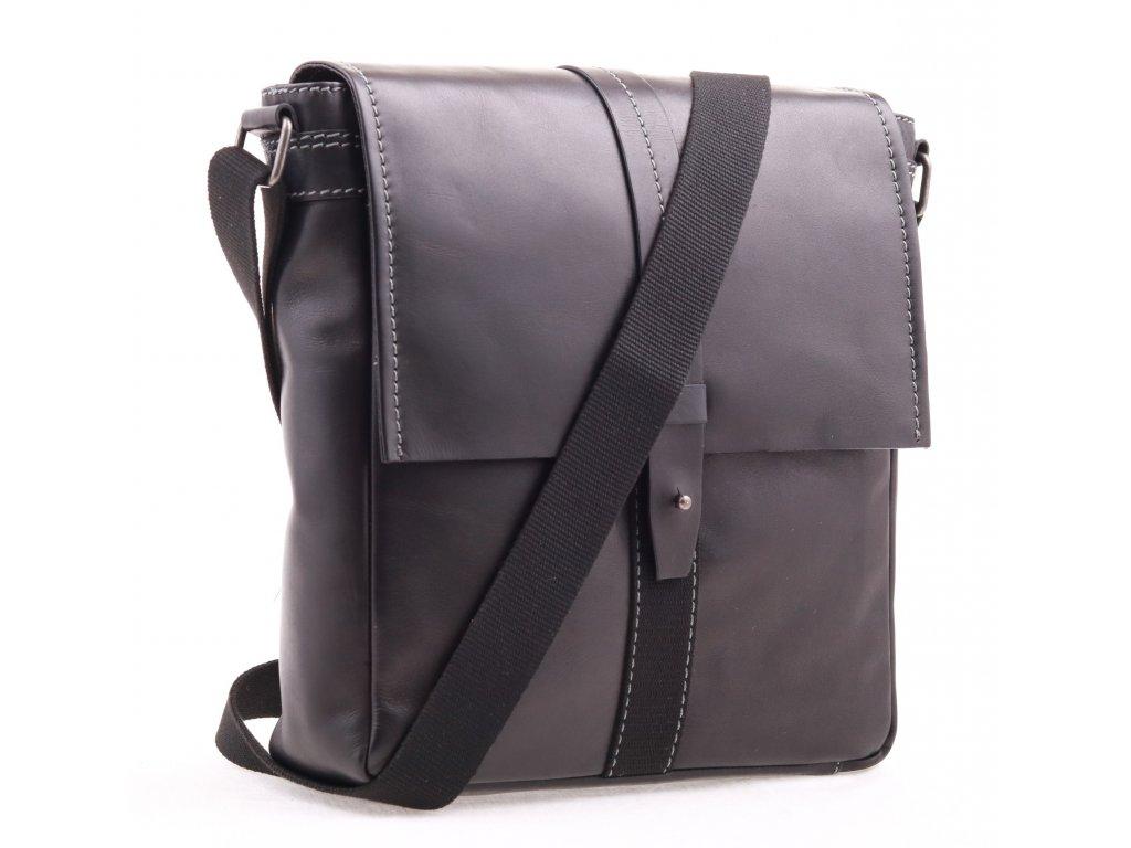 Pánská kožená taška přes rameno Lagen LN 22420 černá