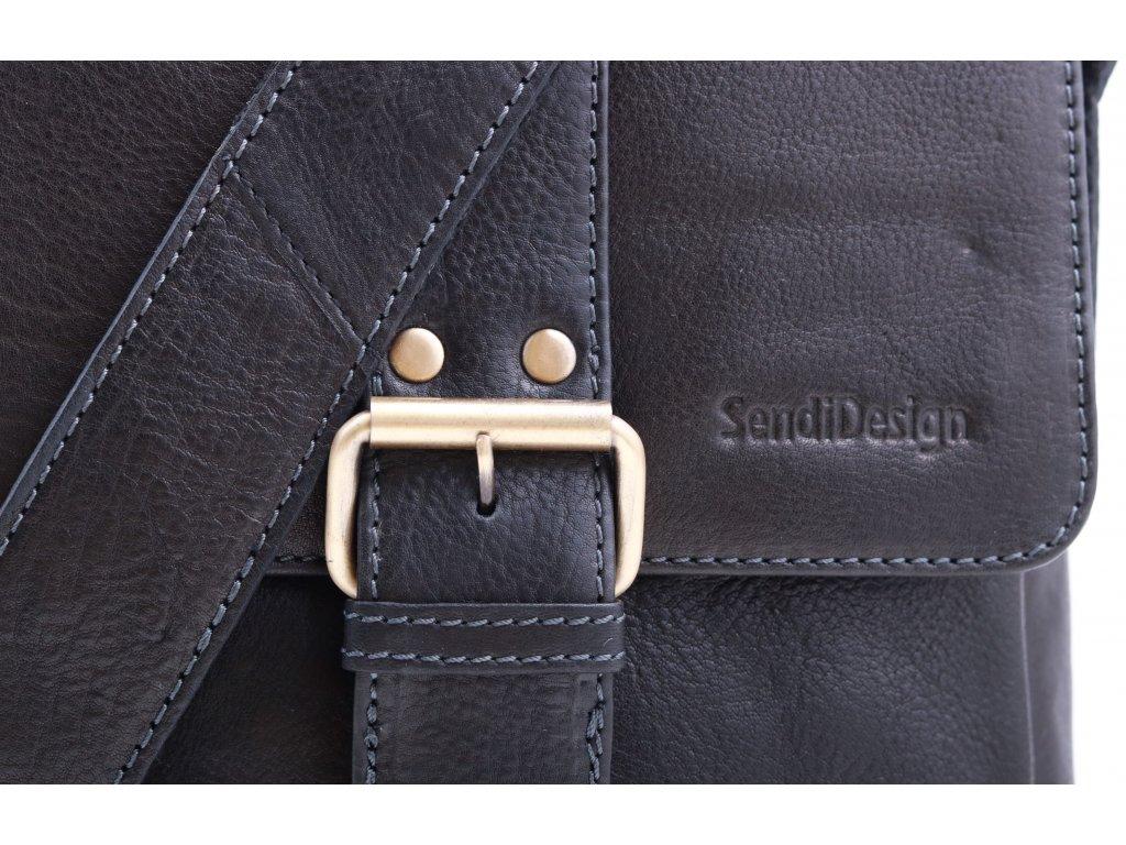b8d0c9c356 Pánská kožená taška přes rameno Sendi Design CT 712 černá - Špongr.cz