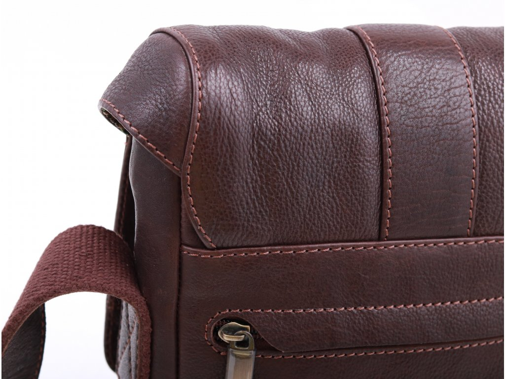 c4e71cbae3 Pánská kožená taška přes rameno Sendi Design CT 712 hnědá - Špongr.cz