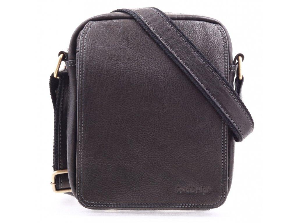 e5b9cb94eb Pánská kožená taška přes rameno Sendi Design CT52005 černá - Špongr.cz