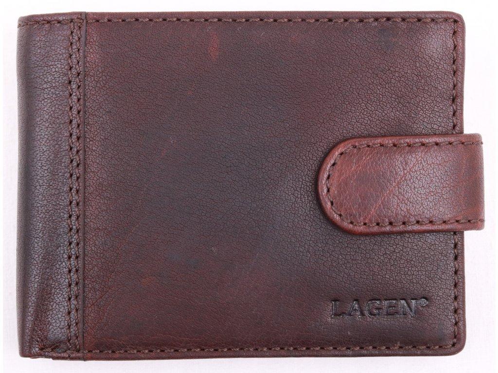 Pánská kožená peněženka Lagen LN 8575 tmavě hnědá
