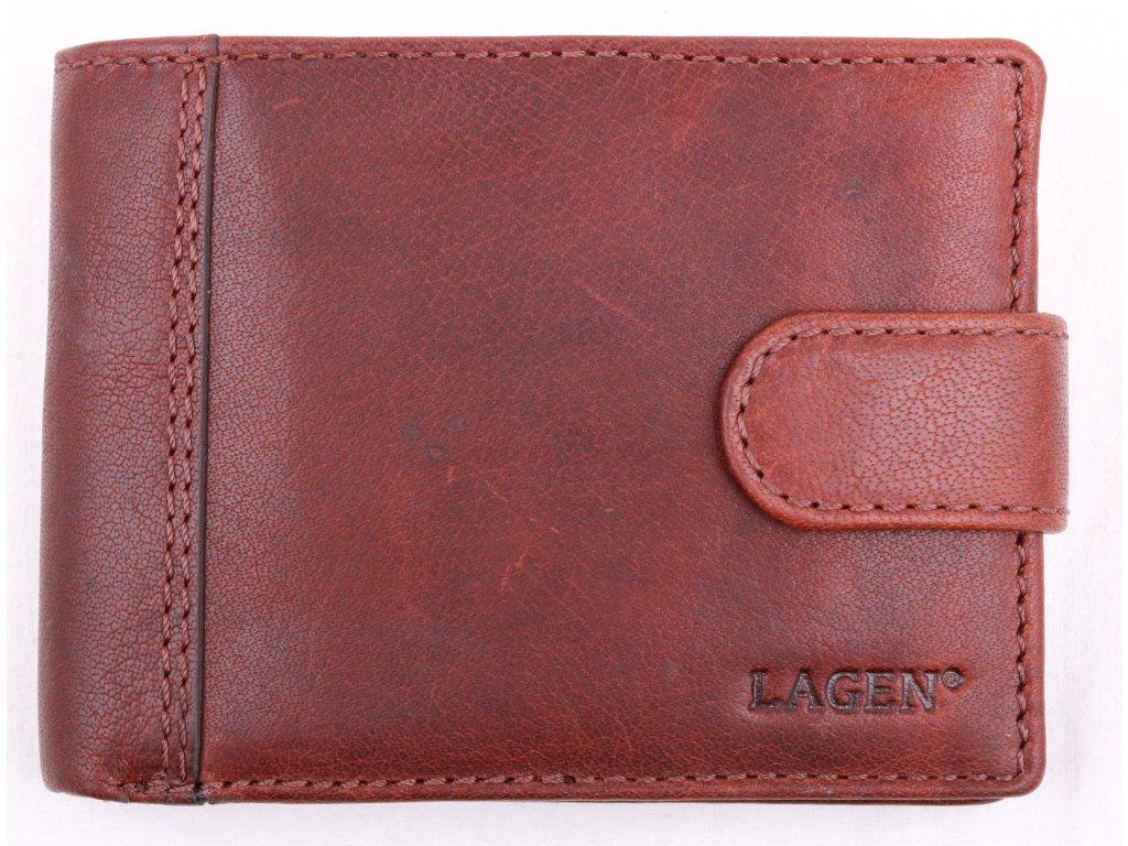 Pánská kožená peněženka Lagen LN 8575 TAN hnědá