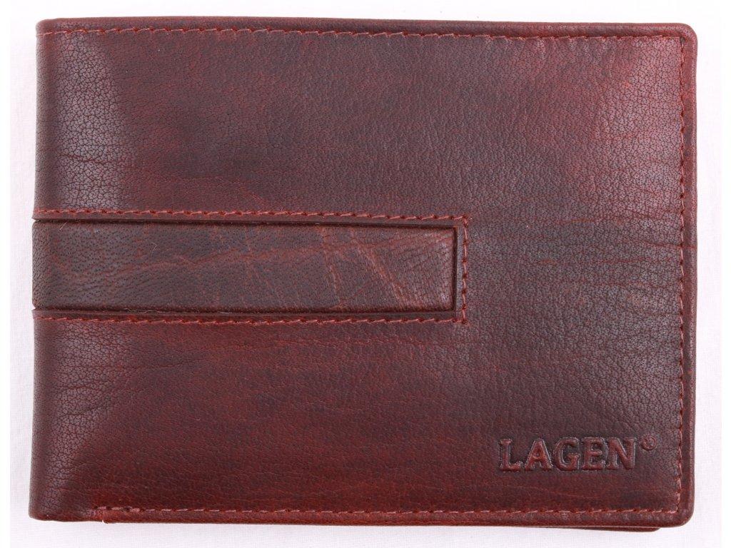 Pánská kožená peněženka Lagen 4980 TAN  hnědá