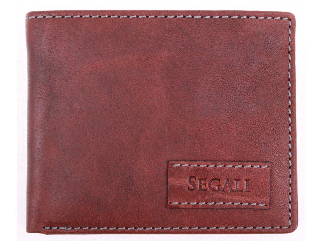 Pánská kožená peněženka Segali 1031 TAN hnědá