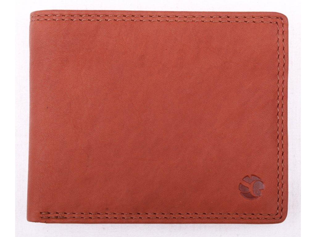 Pánská kožená peněženka Segali 9676 TAN hnědá