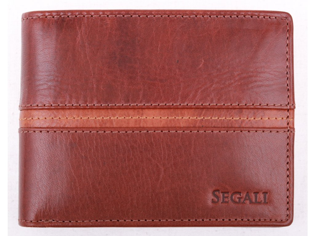 Pánská kožená peněženka Segali 7201372007 hnědá