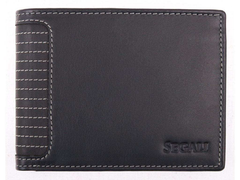 Pánská kožená peněženka Segali 572665004 černá