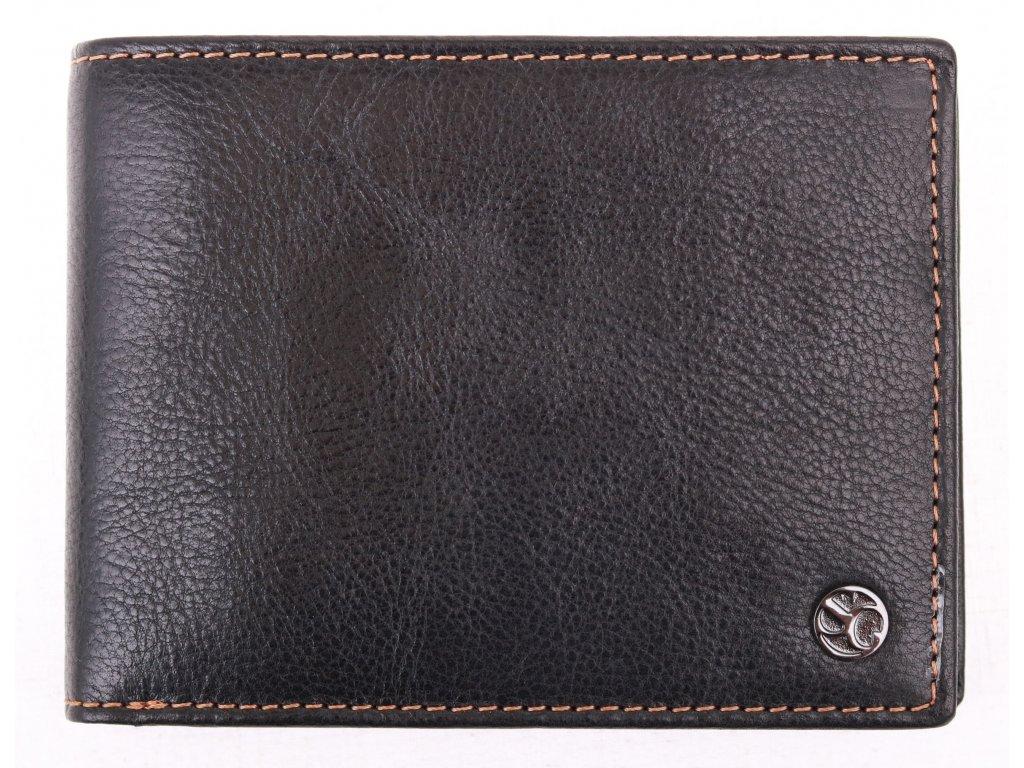 Pánská kožená peněženka Segali 907114005C černá + koňak