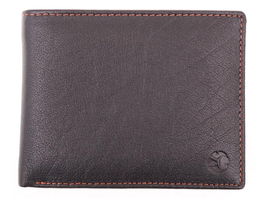 Pánská kožená peněženka Segali 614538 černá koňak