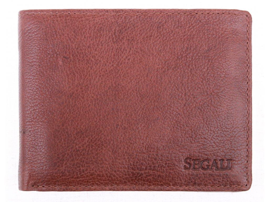 Pánská kožená peněženka Segali 1616 hnědá