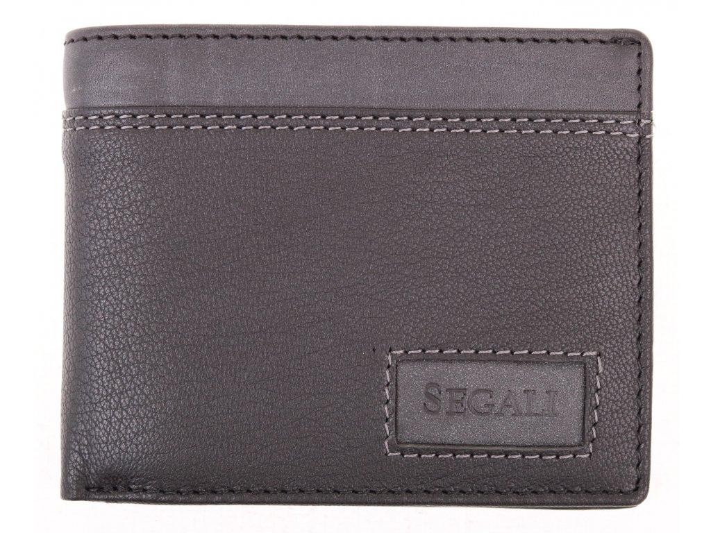 Pánská kožená peněženka Segali W70077 BLack Grey