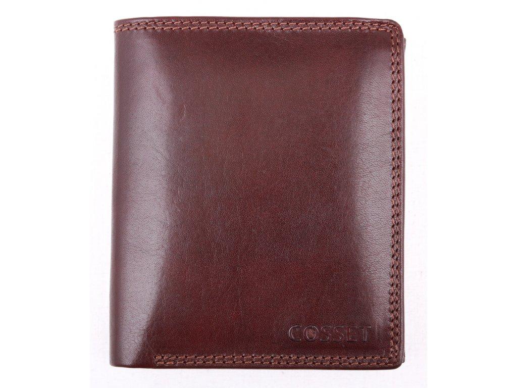 Pánská kožená peněženka Cosset 4402 Vitto hnědá