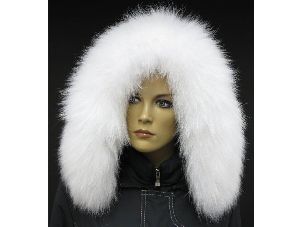 Kožešinový lem / límec na kapuci z finského mývalovce - 4003 White Excellence