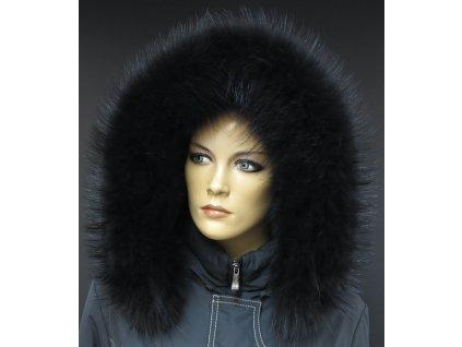 Kožešinový lem / límec kapuci z finského mývalovce - 2087 BLACK