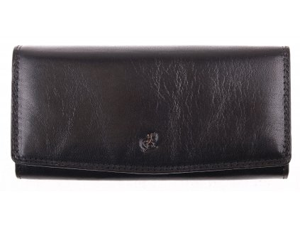 Černá kožená peněženka Cosset 4466 Komodo
