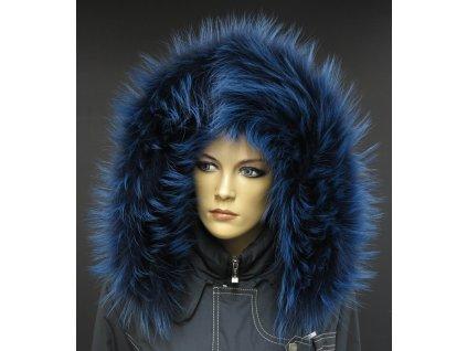 Kožešinový lem / límec na kapuci z finského mývalovce 1055 BLUE