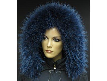 Kožešinový lem na kapuci z finského mývalovce 1059 BLUE