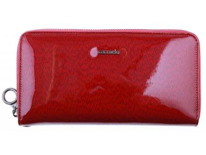 Velká dámská kožená peněženka Carmelo 2102H červená