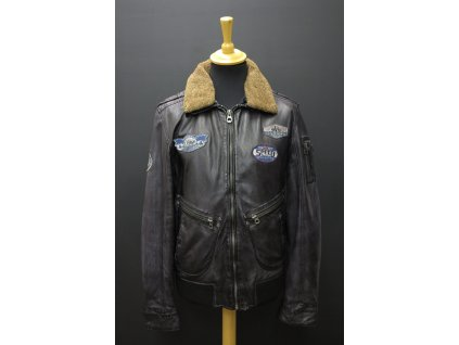 Pánská kožená bunda Gipsy Pilot - černá