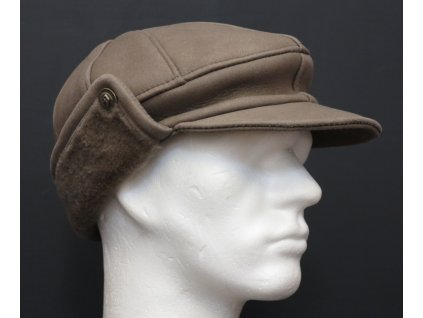 Pánská kožešinová čepice z jehnětiny béžová CEKO57