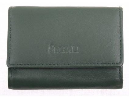Dámská MINI kožená peněženka Segali SG1755 tmavě zelená