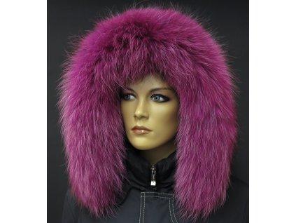 Kožešinový lem na kapuci z finského mývalovce 2085 FUCHSIE 2 . JAKOST