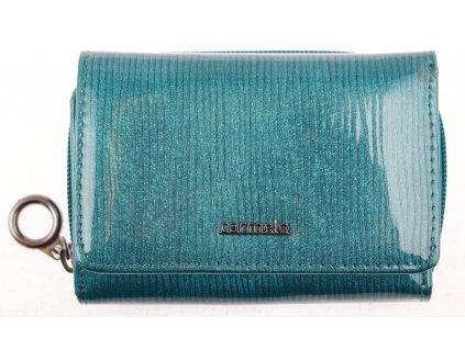 Dámská kožená peněženka Carmelo 2105 F akvamarínová