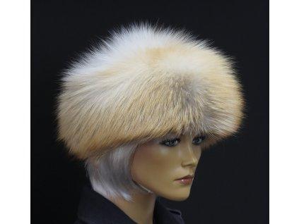 Kožešinová čepice ze zlatoplatinové lišky