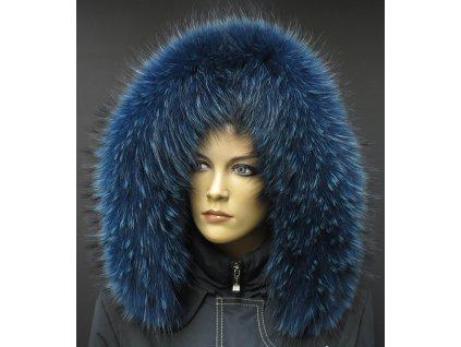 Kožešina lem / límec na kapuci z finského mývalovce 10011 BLUE
