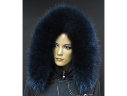 Kožešina lem / límec na kapuci z finského mývalovce 10015 BLUE