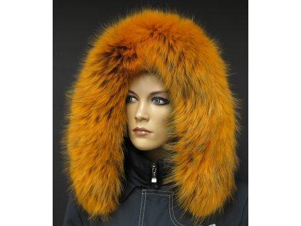 Kožešina lem / límec na kapuci z finského mývalovce 10017 ŽLUTÁ