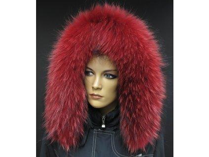 Kožešina lem / límec na kapuci z finského mývalovce 10018 RED