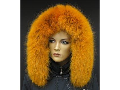 Kožešina lem / límec na kapuci z finského mývalovce 10019 ŽLUTÁ