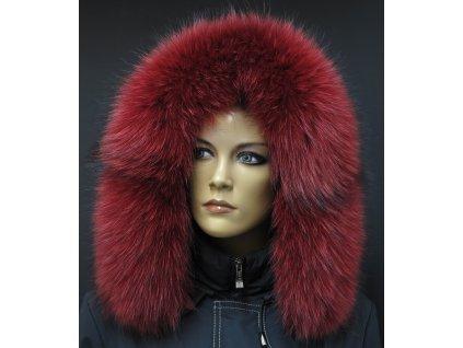 Kožešina lem / límec na kapuci z finského mývalovce 10024 RED