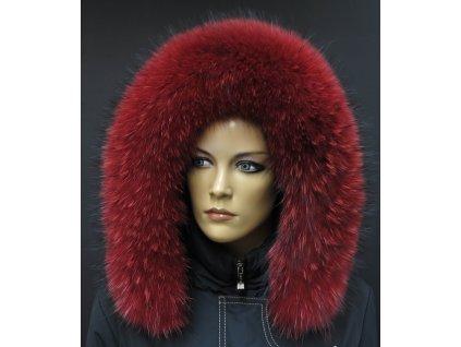 Kožešina lem / límec na kapuci z finského mývalovce 10025 RED