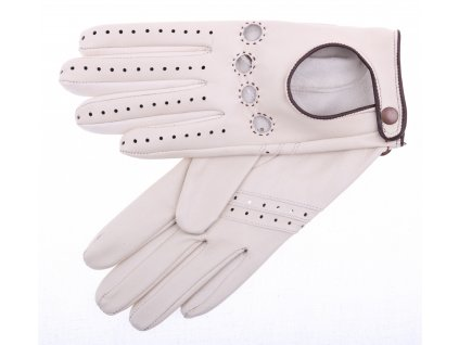 Dámské kožené řidičské rukavice 3428 břízově hnědé