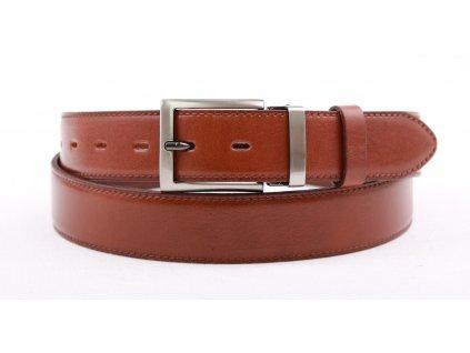 Pánský společenský kožený opasek Penny Belts 3557 hnědý
