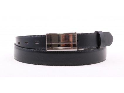 Pánský společenský kožený opasek Penny Belts 305 černý s plnou sponou