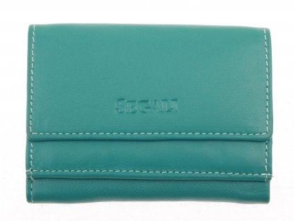 Malinká dámská kožená peněženka Segali SG1756 MINI tyrkys