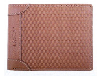 Pánská kožená peněženka Lagen 5434 TAN hnědá