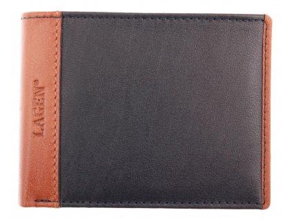 Pánská kožená peněženka Lagen 5433 Indigo Tan