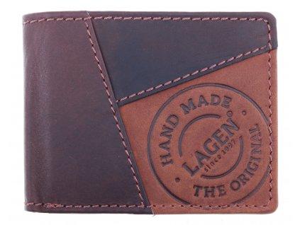 Pánská kožená peněženka Lagen 51148 hnědá