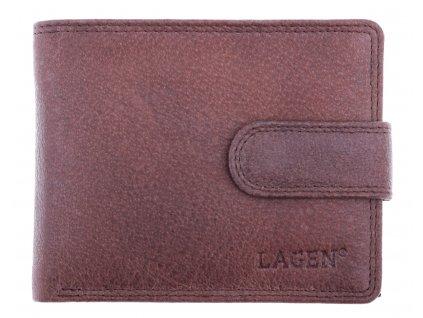 Pánská kožená peněženka Lagen 4006 hnědá