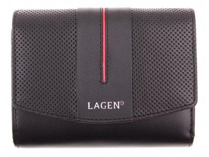 Dámská  kožená peněženka Lagen 5436 černá červená