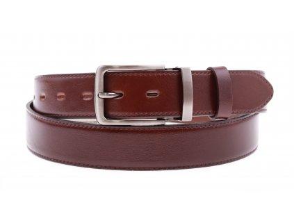 Pánský kožený opasek Penny Belts 3561 společenský tmavě hnědý