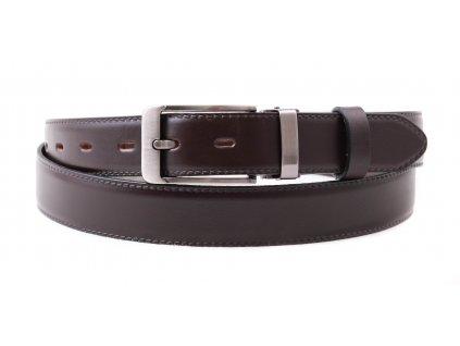 Pánský společenský kožený opasek Penny Belts 307 tmavě hnědý
